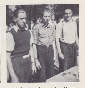 """""""Gull-laget"""" - fra venstre: Erik Kraft, Efraim Halvorsrud, Odd Øisjøfoss"""