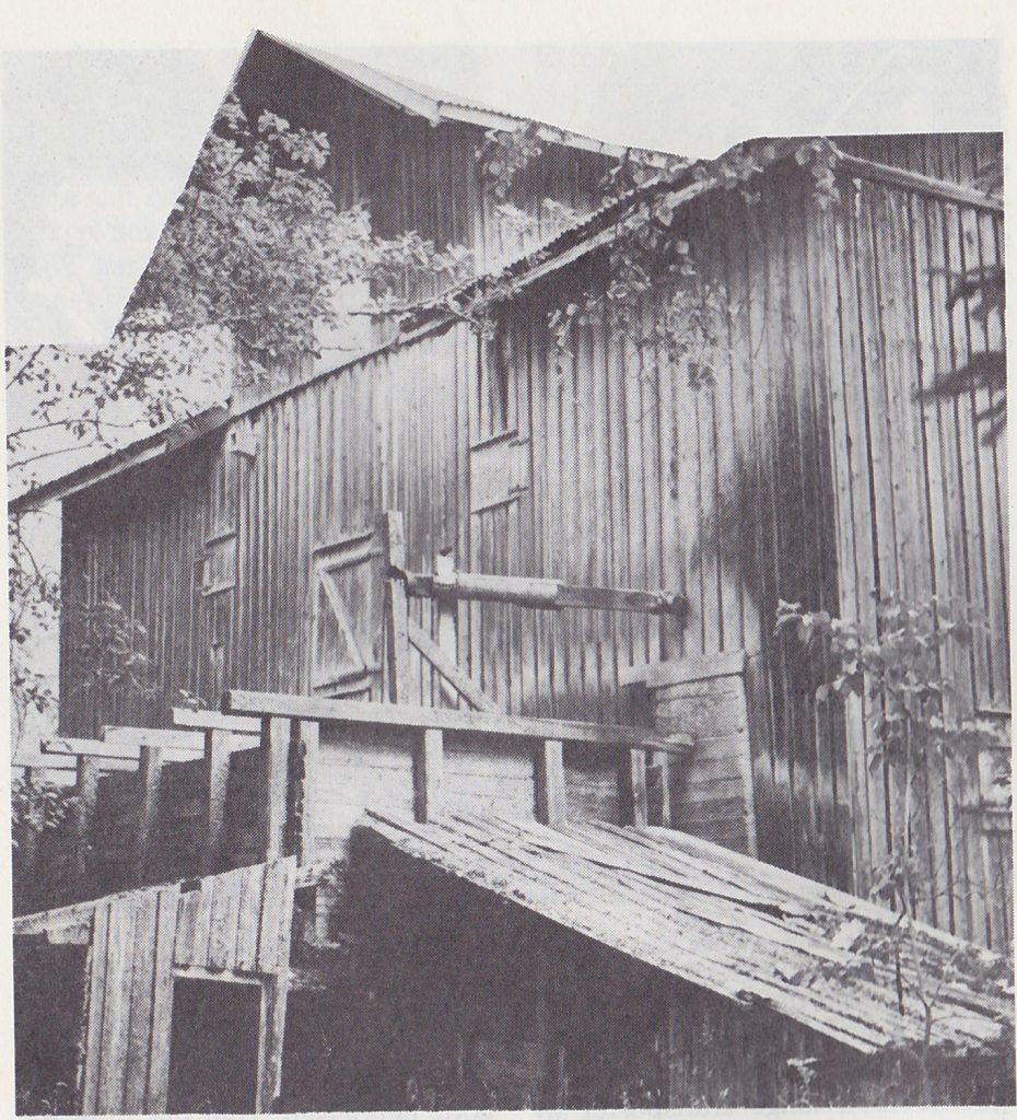 Mølla ved Rambølsfossen. Foto: Th. Tjernsberg.